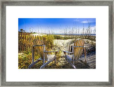 Early Morning Dunes Framed Print by Debra and Dave Vanderlaan