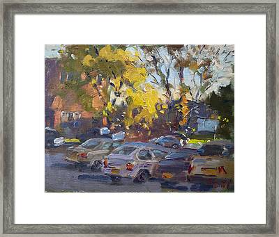Early Morning Fall Framed Print by Ylli Haruni