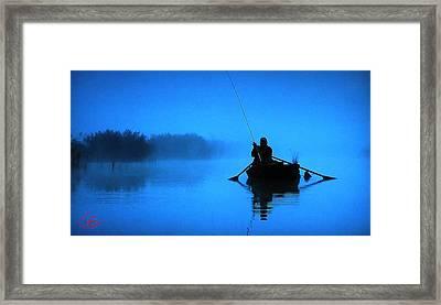 Early Morning Fishing  Framed Print by Colette V Hera  Guggenheim