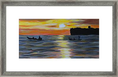 Early Morning Fishing Framed Print by Fatima Neumann