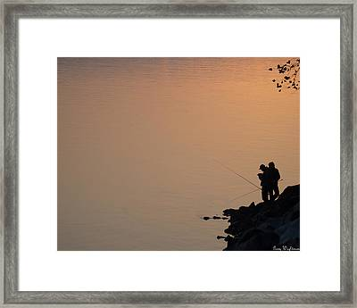 Framed Print featuring the photograph Early Morning Fishing by Gary Wightman