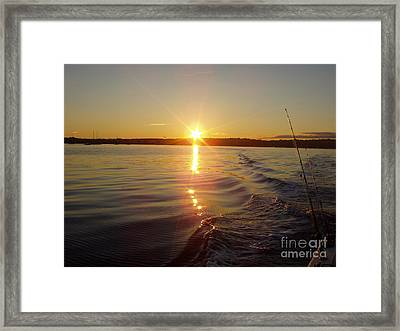 Framed Print featuring the photograph Early Morning Fishing by John Telfer