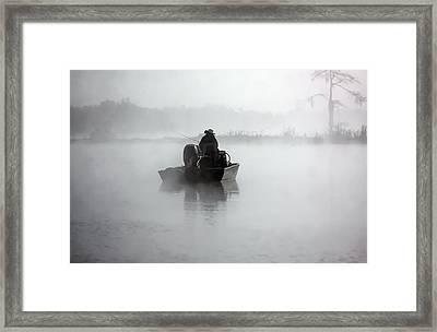 Early Morning Fishing Framed Print by Myrna Bradshaw