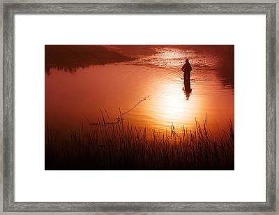 Early Morning Fishing Framed Print