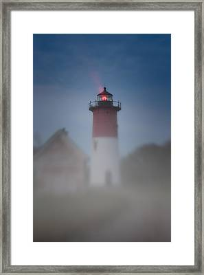 Early Morning Fog At Nauset Lighthouse Framed Print