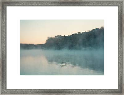 Early Morning Fog Framed Print by Kim Fearheiley