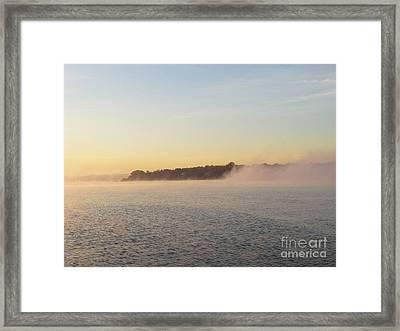 Early Morning Fog Rolling In Framed Print by John Telfer