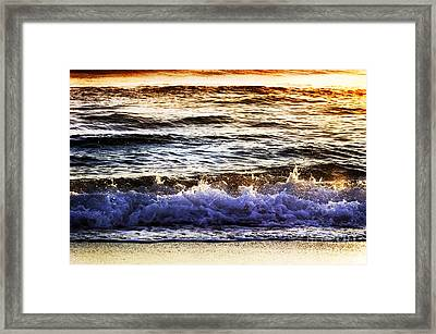 Early Morning Frothy Waves Framed Print