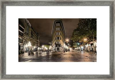Early Morning Gastown Framed Print by David Brown
