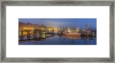 Early Morning Harbor Framed Print by Jon Glaser