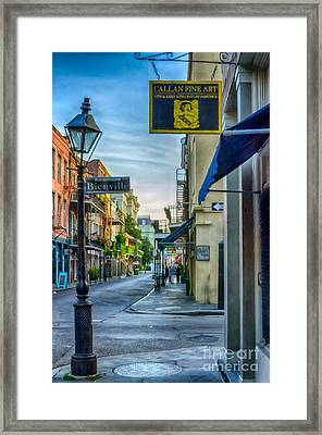 Early Morning In French Quarter Nola Framed Print