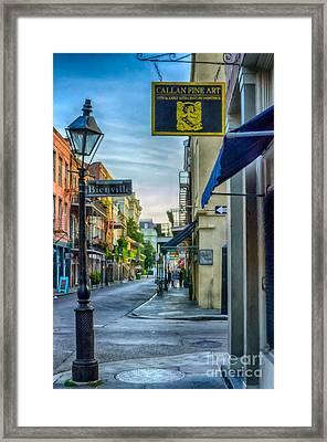 Early Morning In French Quarter Nola Framed Print by Kathleen K Parker