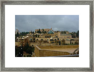 Framed Print featuring the photograph Early Morning In Jerusalem by Doc Braham