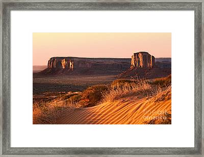 Early Morning In Monument Valley Framed Print