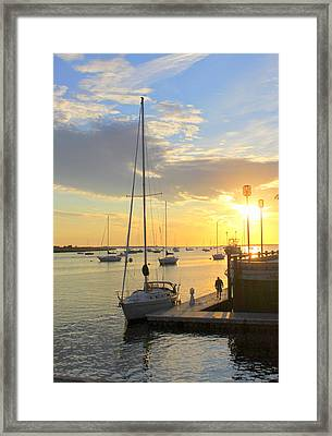 Early Morning In The Harbor Framed Print