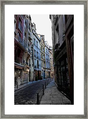 Early Morning In The Latin Quarter Framed Print by Evie Carrier