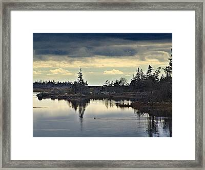 Early Morning In The Salt Marsh Framed Print by George Cousins