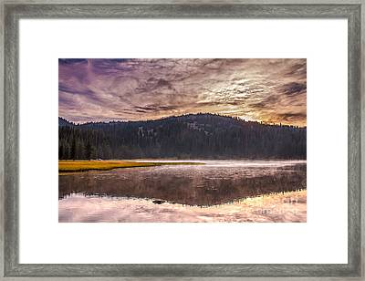 Early Morning Lake Light Framed Print
