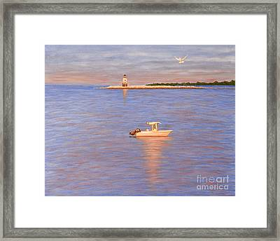 Framed Print featuring the painting Early Morning Light by Cindy Lee Longhini