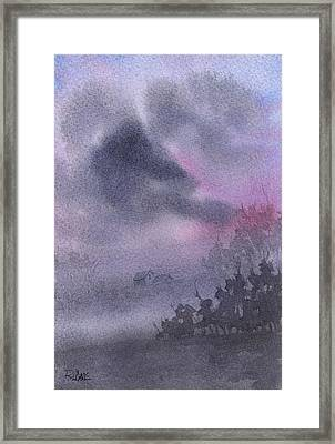 Framed Print featuring the painting Early Morning Mist by Rebecca Davis