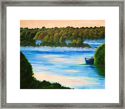 Early Morning On Lake Peipsi  Framed Print