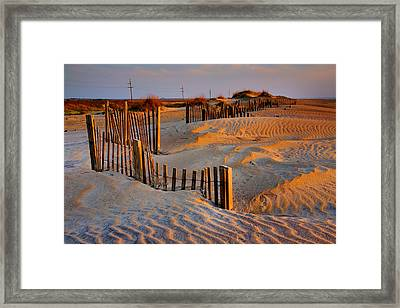 Early Morning On The Dunes I Framed Print by Steven Ainsworth