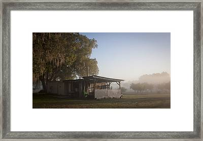 Framed Print featuring the photograph Early Morning On The Farm by Lynn Palmer