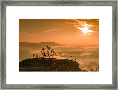 Early Morning On The Lilienstein Framed Print