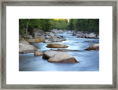 Early Morning On The Swift Framed Print by Andrea Galiffi