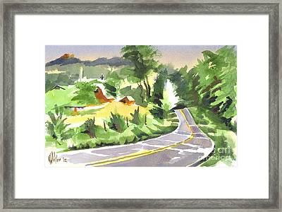Early Morning Out Route Jj Framed Print by Kip DeVore