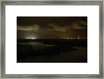Framed Print featuring the digital art Early Morning Over Lake Shelby by Michael Thomas