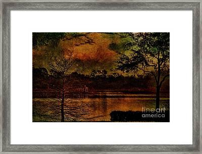 Early Morning Pond Visit Framed Print by Deborah Benoit
