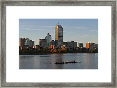 Early Morning Preparation For The Head Of The Charles  Framed Print
