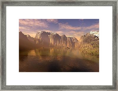Early Morning Rays Framed Print by Michael Wimer