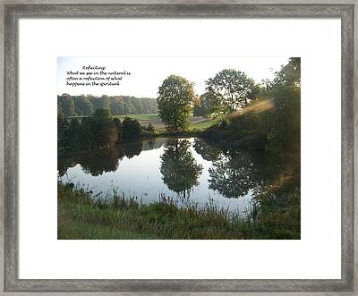 Early Morning Reflections Framed Print by Casey Overbeek