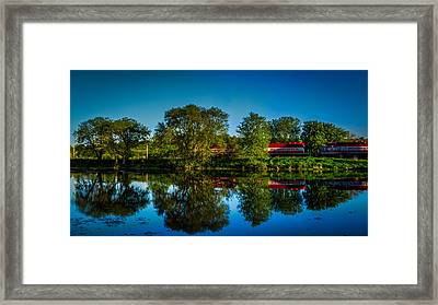 Early Morning Rest Stop Framed Print