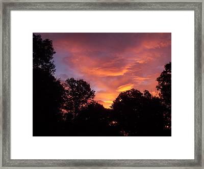 Early Morning Rise Framed Print by Yolanda Raker