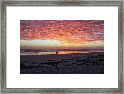 Early Morning Risers Framed Print
