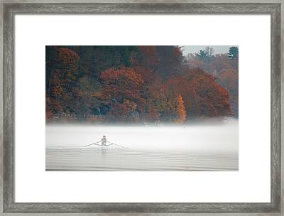 Early Morning Row Framed Print by Karol Livote