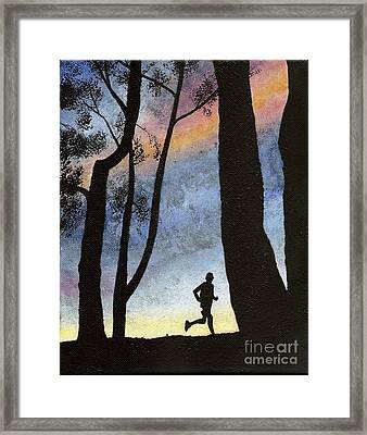 Early Morning Run Framed Print