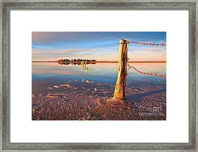 Early Morning Salt Pan Framed Print