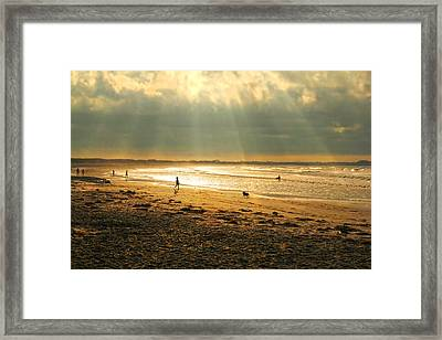 Early Morning Second  Beach Newport Framed Print by Cornelia Trahan