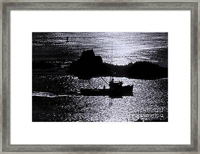 Early Morning Silhouette At Sail Rock Narrows Framed Print by Marty Saccone