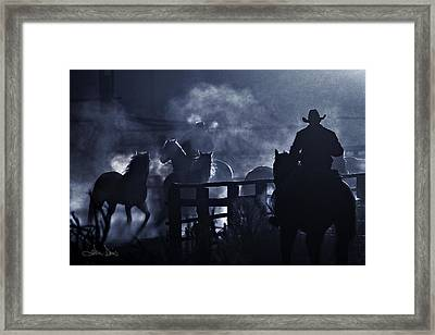Early Morning Smoke Framed Print by Joan Davis