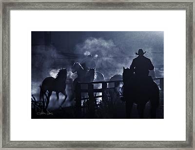 Early Morning Smoke Framed Print