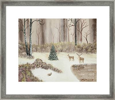 Early Morning Snow Framed Print