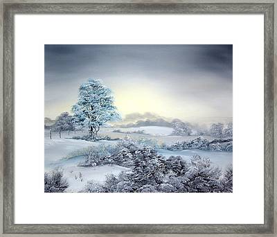 Early Morning Snows Framed Print