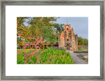 Early Morning Sun Caressing Mission Espada Framed Print