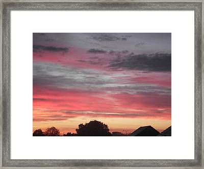 Framed Print featuring the photograph Early Morning Sunrise 1 by Martin Blakeley