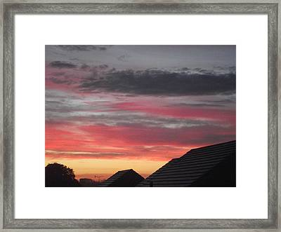 Framed Print featuring the photograph Early Morning Sunrise 4 by Martin Blakeley
